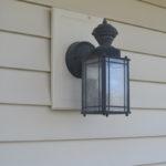 Replacing an outdoor light fixture -3