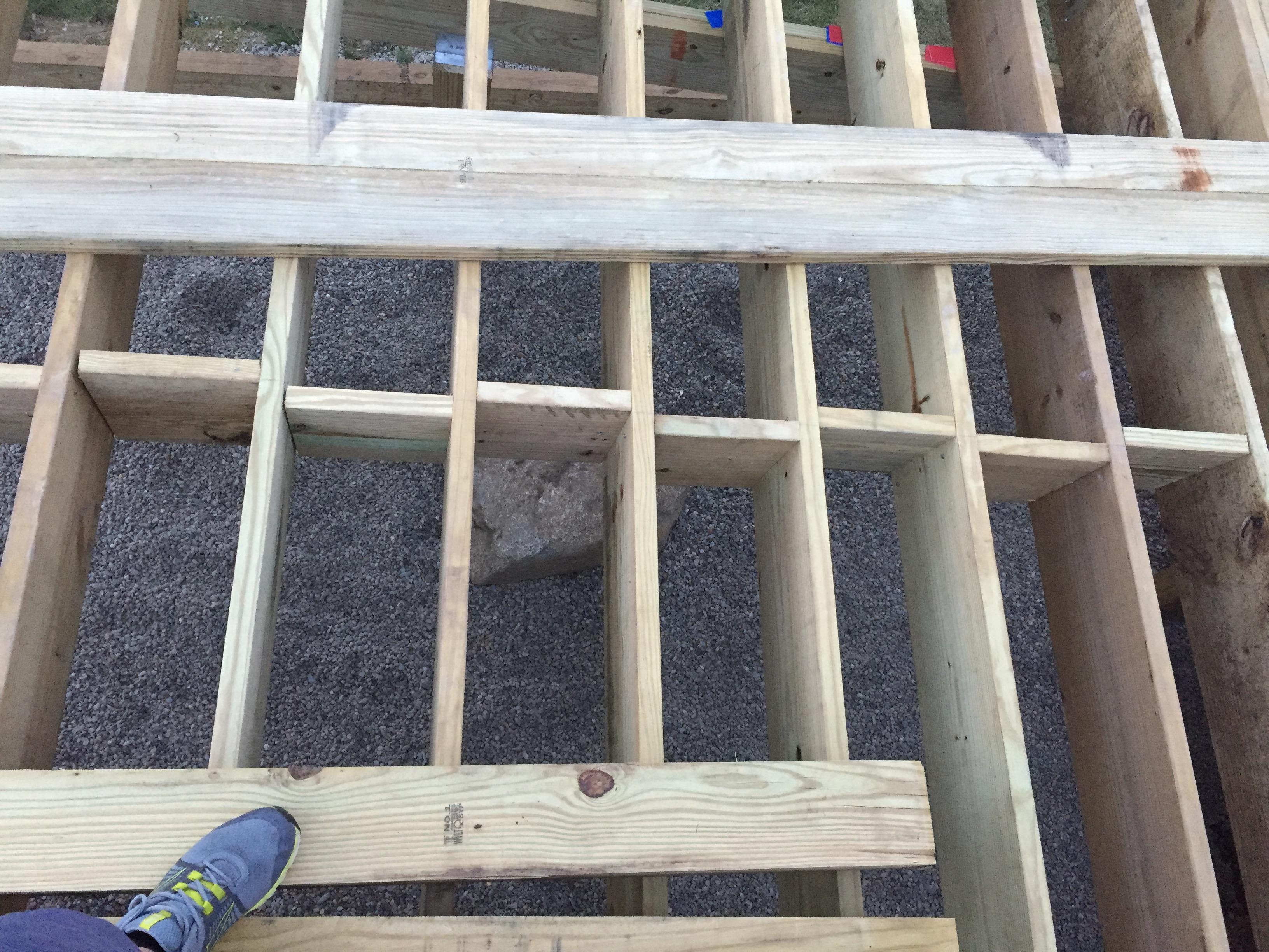 Deck Blocking A Concord Carpenter