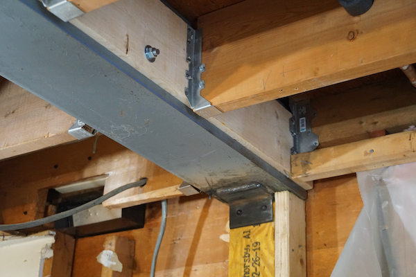 Load Bearing Beam With A Flush